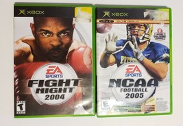 MICROSOFT XBOX - Lot of 3 Sport Games NCAA 2005 Top spin  & Fight Night ... - $6.88