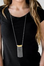 Serene Streams - Long Yellow Necklace - $5.00