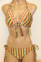 NWT Lucky Brand Swimsuit Bikini 2pc set Sz M Push Up Bra Basic Fit SRS - $38.59