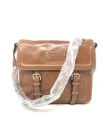 Tignanello A269257 Buckle Down Distressed Vintage Leather Flap Crossbody... - $47.00