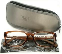 New Emporio Armani Ea 3001F 5069 Brown Transparent Eyeglasses Frame 54-17-140mm - $54.44
