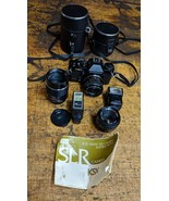 Sears KSX 35mm film camera for photography class 50mm 28mm 135mm lenses,... - $58.41