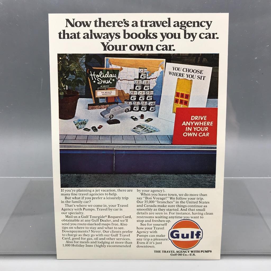 Vintage Magazine Ad Print Design Advertising Gulf Oil Petroleum - $12.92