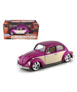 Volkswagen Beetle Low Rider Purple 1/24 Diecast Car Model by Welly 22436... - $31.12