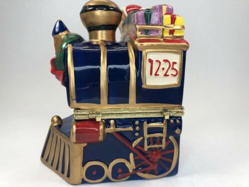 Mr. Christmas Animated Porcelain Train Music Box Plays Deck the Halls 2012