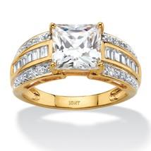 2.83 TCW Cubic Zirconia 10k Yellow Gold Engagement Ring - €150,66 EUR