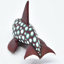 Handmade Alebrijes Oaxacan Wood Carving Painted Orca Killer Whale Figurine image 3