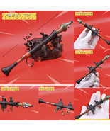 Fortnight Battle Royale Gun Keychain Toy Metal Figure Model Rocket Launcher - $13.89