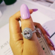 Women Oval Big Zirconia Wedding And Engagement Ring Solid Sterling Silve... - $30.99