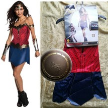$50 Womens Wonder Woman Adult Dc Superhero Halloween Costume & Shield Small-NEW - $35.61