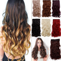"120-200g 17-30"" Long Clip in Full Head hair Extensions as remy human hai... - $15.20"