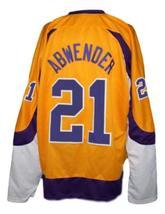 Custom Name # New York Golden Blades Retro Hockey Jersey Yellow Any Size image 4