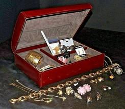 Costume Jewelry Box with Costume Jewelry  AA20-7152 Vintage - $89.95