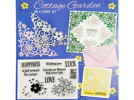 Practical Publishing International Cottage Garden Die & Stamp Set