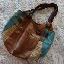 The Sak Leather Rainbow Boho Hobo Bucket Bag - $25.00