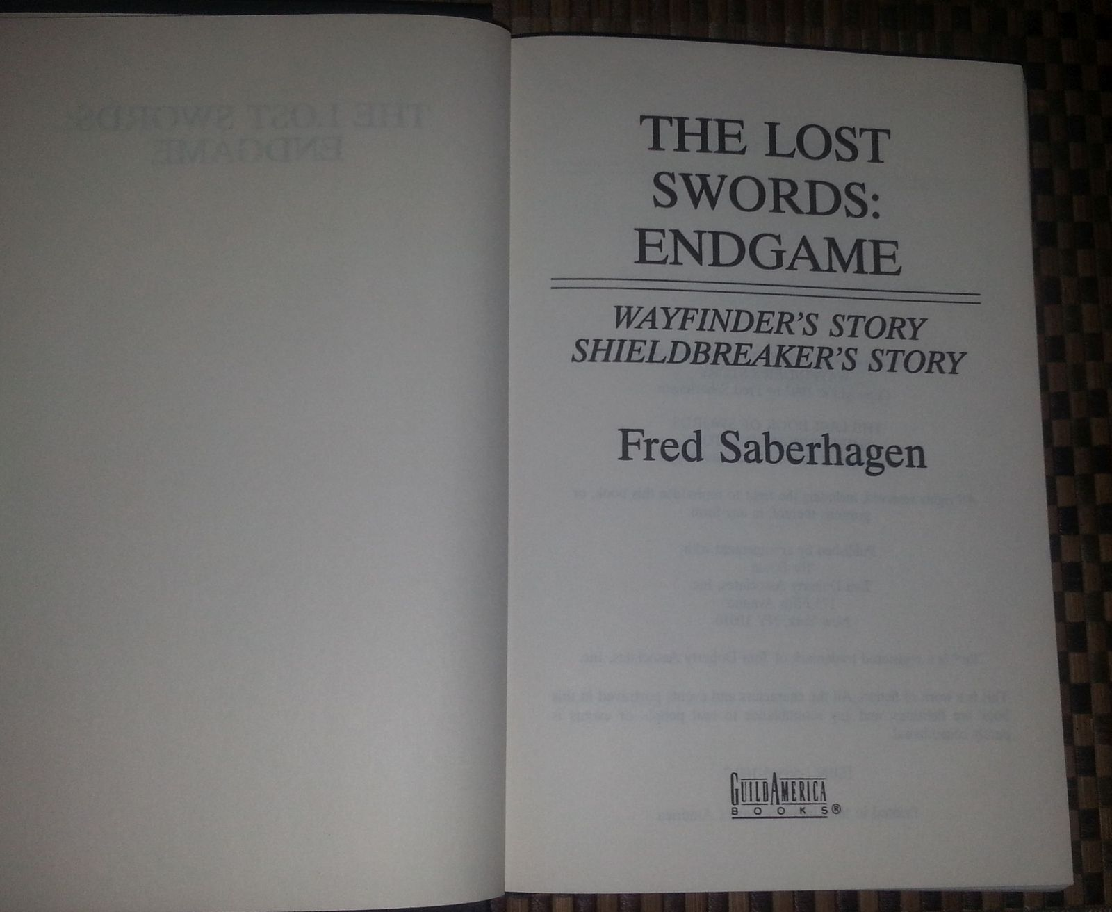The Lost Swords: End Game by Fred Saberhagen HBDJ