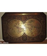 """1964 MASKETEERS OLD WORLD MAP, 1600's MAP STYLE 44"""" x 30""""  - $59.73"""