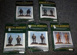 5 WW1 METAL MODELES 54MM 1/32 METAL WW1 FIGURES - $100.00