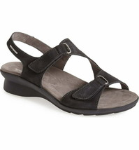MEPHISTO 'Paris' Black Nubuck Comfort Sandals 38 7  - $58.00