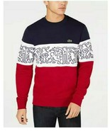 Lacoste x Keith Haring Mens Graphic Colorblock French Terry Sweatshirt S... - $148.49