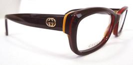 GUCCI Women's Frame Glasses GG3607 BrnRedYel 52-15-140 MADE IN ITALY - New! - $179.95