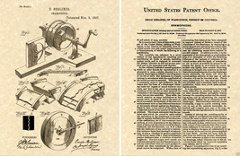 Berliner GRAMOPHONE US PATENT Art Print READY TO FRAME!!! Vintage music ... - $9.89