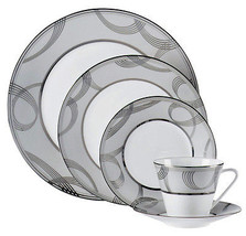 Waterford BALLET ENCORE 5 Piece Place Setting Dinnerware Platinum Trim New - $71.90