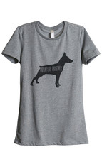 Thread Tank Miniature Pinscher Dog Silhouette Women's Relaxed T-Shirt Te... - $24.99+