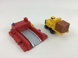 Geotrax Fork Lift Freight Toy Loading Car Push Car Complete Fisher Price 2004 - $13.32