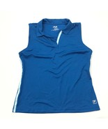 NEW FILA GOLF Womens L Polo Blue Sleeveless Tank Collared Active Shirt R... - $21.63