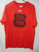 Men's Large Red Under Armour Shirt - Texas  LACROSSE - $6.92