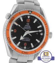 Men's Omega Seamaster Planet Ocean XL Orange 45.5mm Co-Axial 600M 2208.5... - $3,093.03