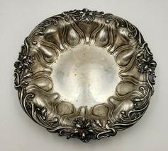 Antique Sterling Silver Bowl w/ Violet Flower Edge by Meriden Britannia ... - $260.00