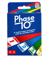 MATTEL PHASE 10 FAMILY CARD GAME AGE 7+ PLAYERS 2-6 A RUMMY-TYPE CARD GAME - $10.95