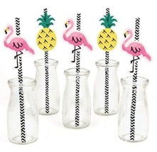 Flamingo Paper Straw Decor - Party Like A Pine... - $17.15