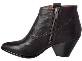 Frye Women's Reina Black Leather Western Ankle Bootie 3479257-BLK NIB image 2