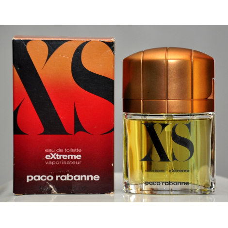 Primary image for Paco Rabanne XS Extreme Eau De Toilette Edt 50ML 1.7 Fl. Oz. Vintage Old 2000