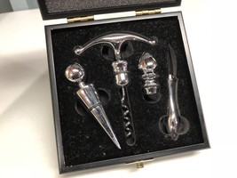 Special Occasion Wooden Box Corkscrew Wine Gift Set Stopper  - $14.67