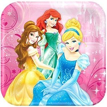 Disney Princess Sparkle Luncheon Paper Plates Birthday Party Disposable ... - $11.76