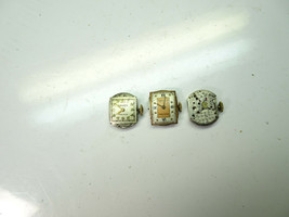 Gruen 3 vintage Ladies Watch Movements and 2 dials for restoration parts... - $111.27