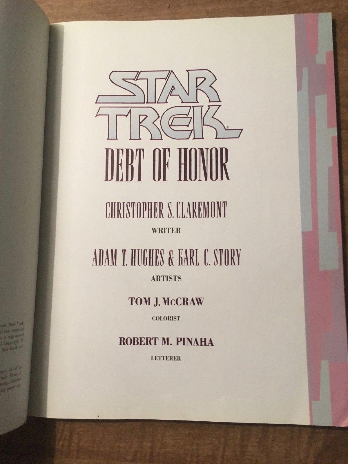 Star Trek: Debt of Honor Paperback Comic Book (1992, PB) image 5