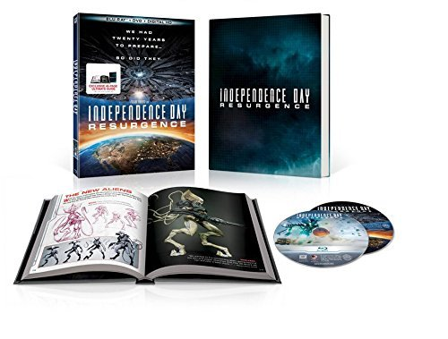Independence Day Resurgence w/Ultimate Guide Book (Blu Ray+DVD+Digital) New