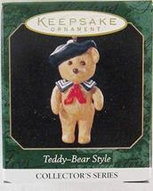 Teddy-Bear Style Miniature 3rd in Series 1999 Hallmark Keepsake Ornament... - $4.95