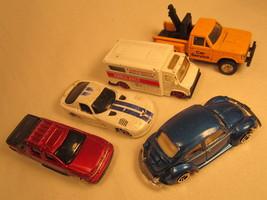 Lot of 5 MAISTO Diecast Cars VIPER Ambulance BEETLE Avalanche etc 1:64 [Z203d6a] - $4.78