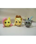 LOT OF 3 MY LITTLE PONY MYMOJI FUNKO PVC FIGURE HEADS APPLEJACK FLUTTERS... - $12.05