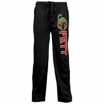 Star Wars Boba Fett Helmet and Text Pajama Sleep Pants Black - $31.98