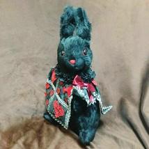 Disney Alice in Wonderland Trump soldier Rabbit Plush Doll Handmade Blac... - $155.43