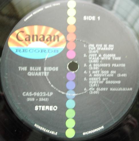 The Blue Ridge Quartet - Who Am I? - Canaan Records CAS 9622