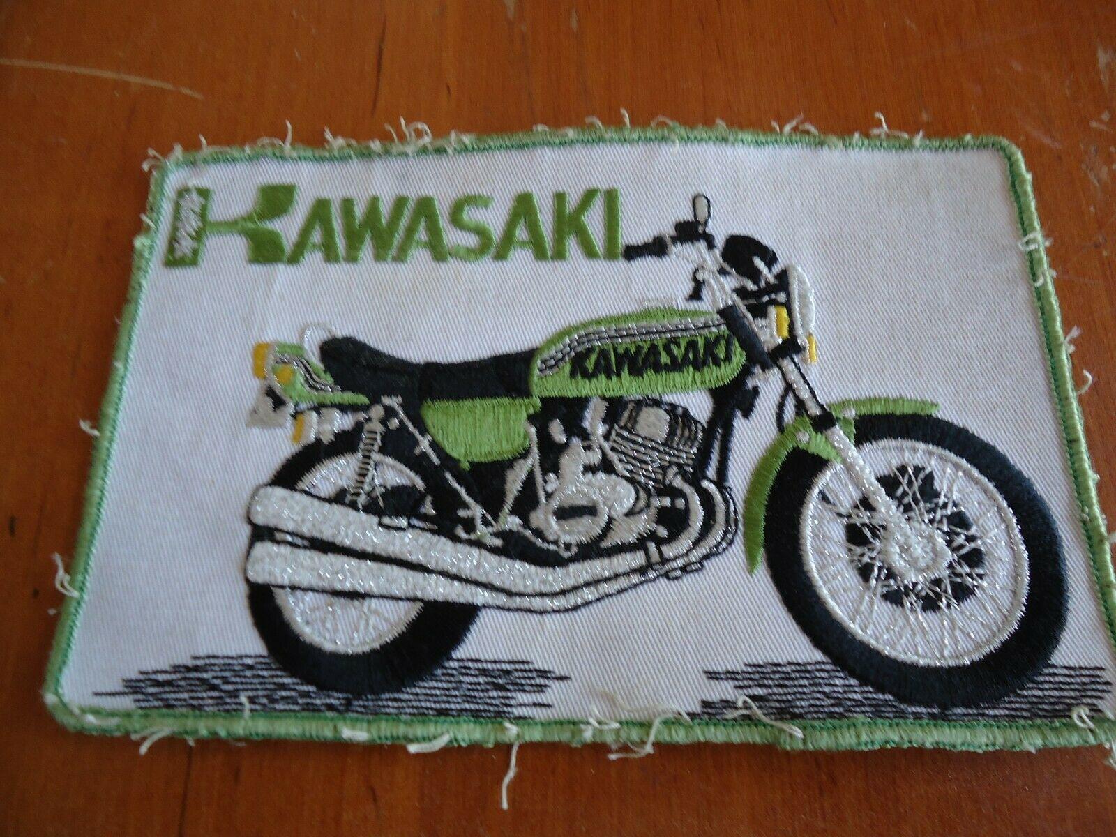 Kawasaki Motorcycle Patch Vintage Kawasaki Motorcycle Patch