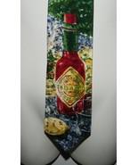 McIlhenny Tabasco Brand Pepper Sauce Men's Silk Necktie Tie Abstract Emb... - $24.74